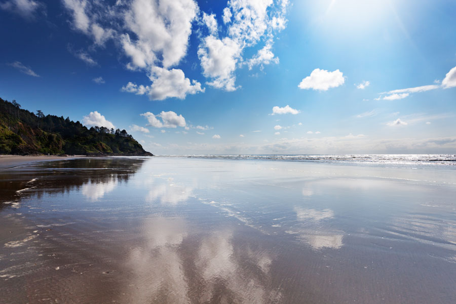 Blog - View of Long Beach Washington Coast on a Bright Summer Day