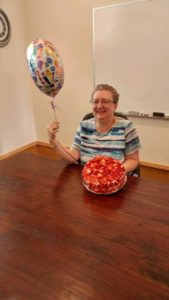 Blog - Marla With Cake and Balloon